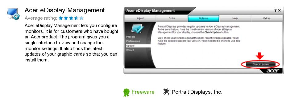 Acer eDisplay Management
