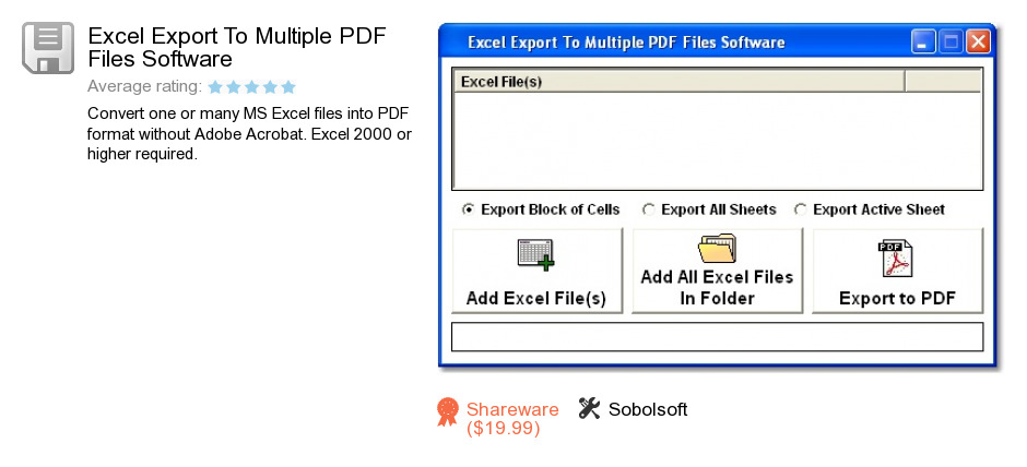 Excel Export To Multiple PDF Files Software