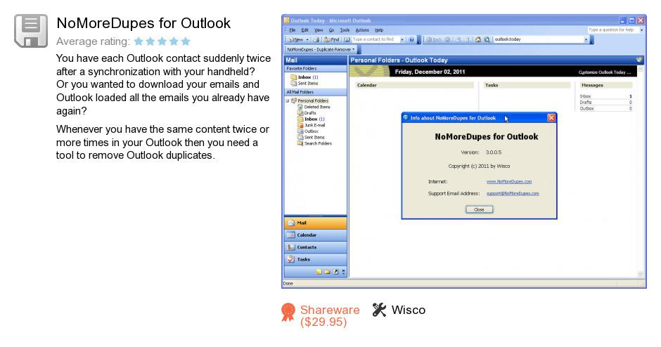 NoMoreDupes for Outlook