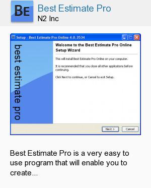 Best Estimate Pro