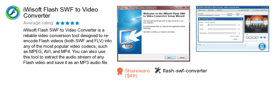IWisoft Flash SWF to Video Converter