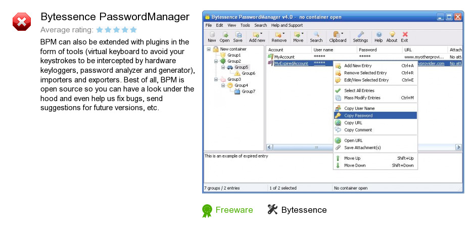 Bytessence PasswordManager