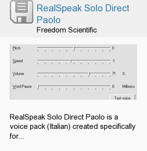 RealSpeak Solo Direct Paolo