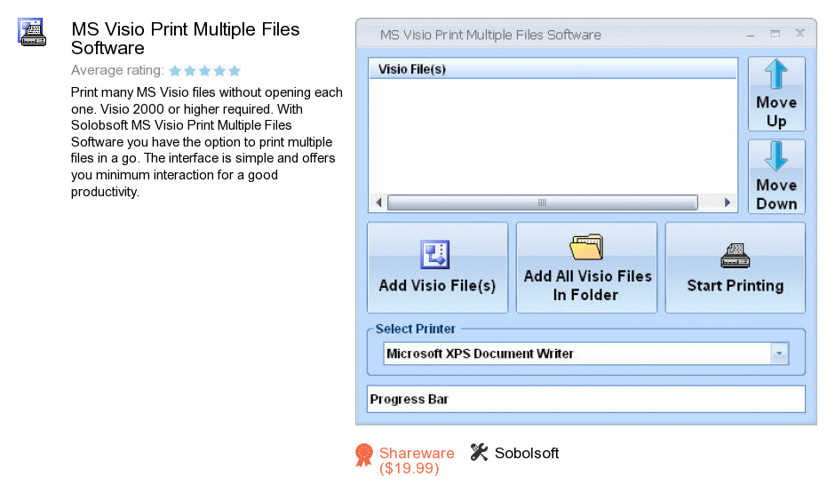 MS Visio Print Multiple Files Software