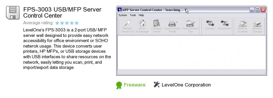 FPS-3003 USB/MFP Server Control Center
