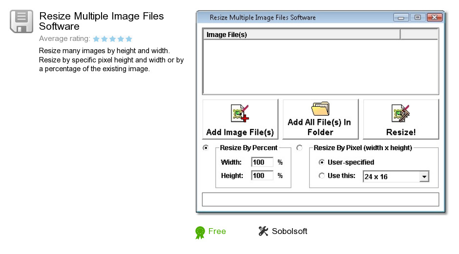 Resize Multiple Image Files Software