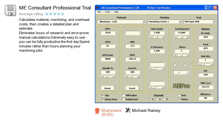 ME Consultant Professional Trial