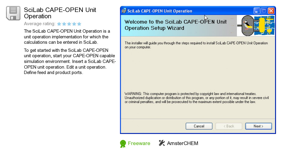 SciLab CAPE-OPEN Unit Operation
