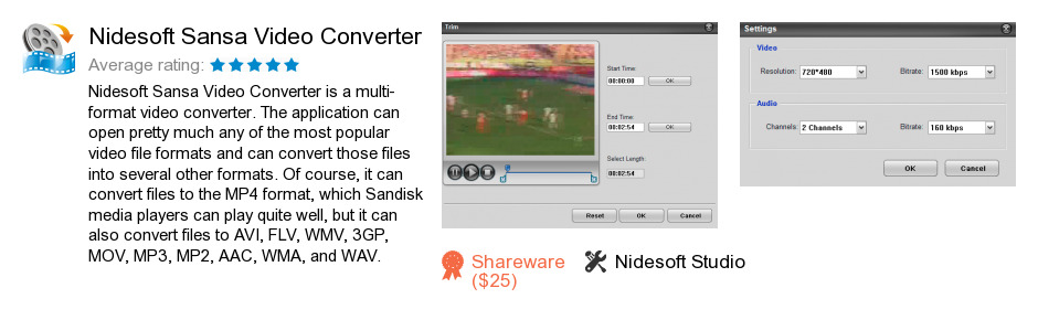 Nidesoft Sansa Video Converter