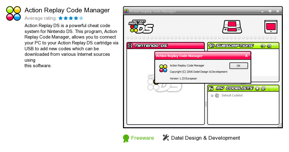 Action Replay Code Manager