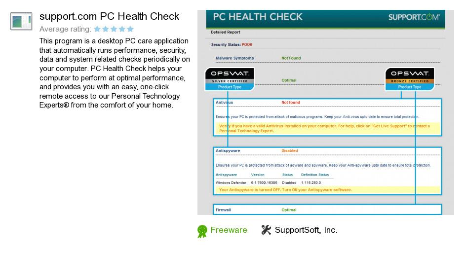 Support.com PC Health Check