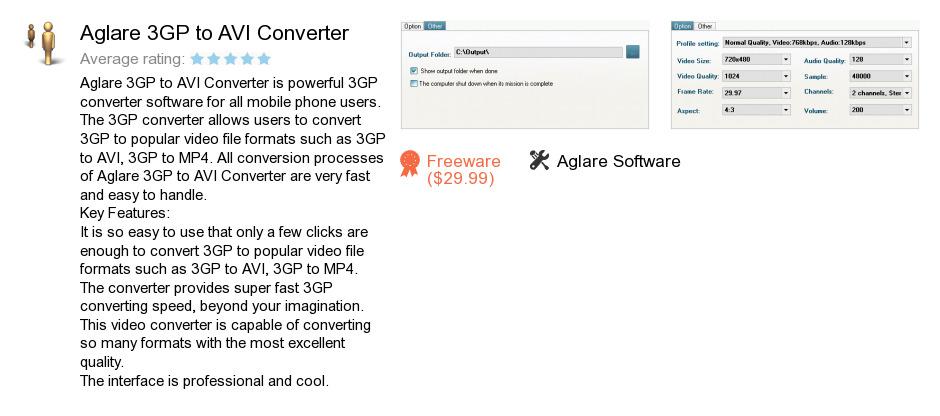 Aglare 3GP to AVI Converter