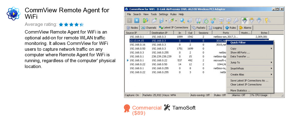 CommView Remote Agent for WiFi