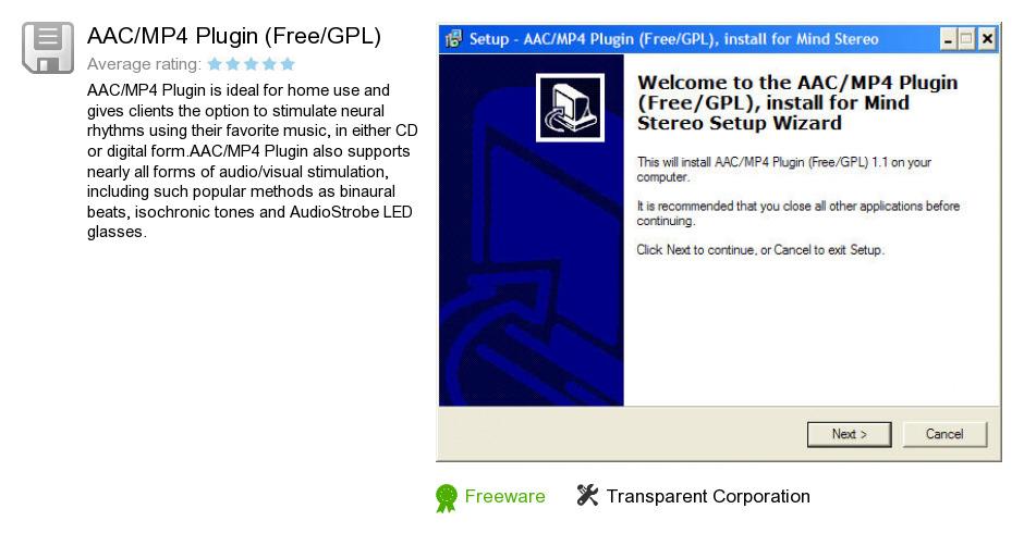 AAC/MP4 Plugin (Free/GPL)