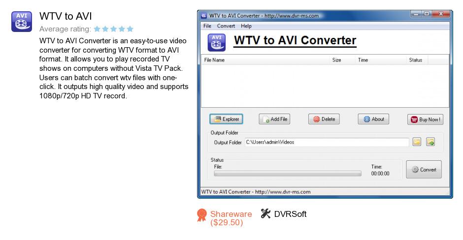 WTV to AVI