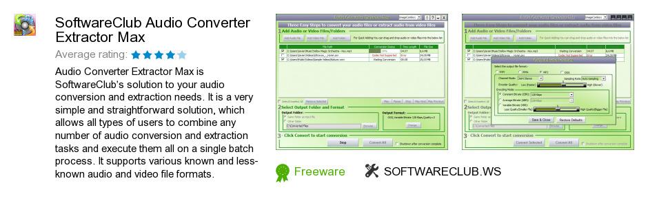 SoftwareClub Audio Converter Extractor Max