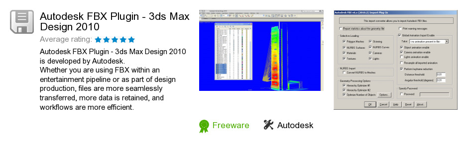 Autodesk FBX Plugin - 3ds Max Design 2010