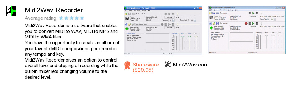 Midi2Wav Recorder