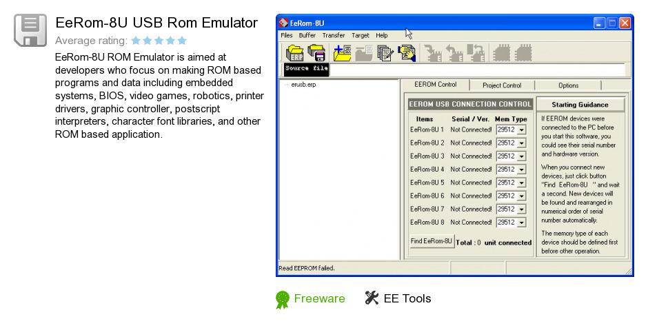 EeRom-8U USB Rom Emulator