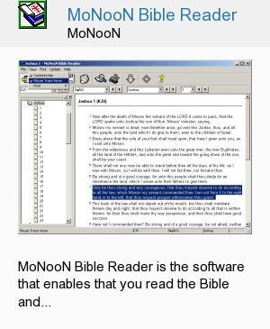 MoNooN Bible Reader