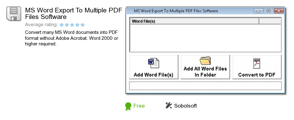 MS Word Export To Multiple PDF Files Software