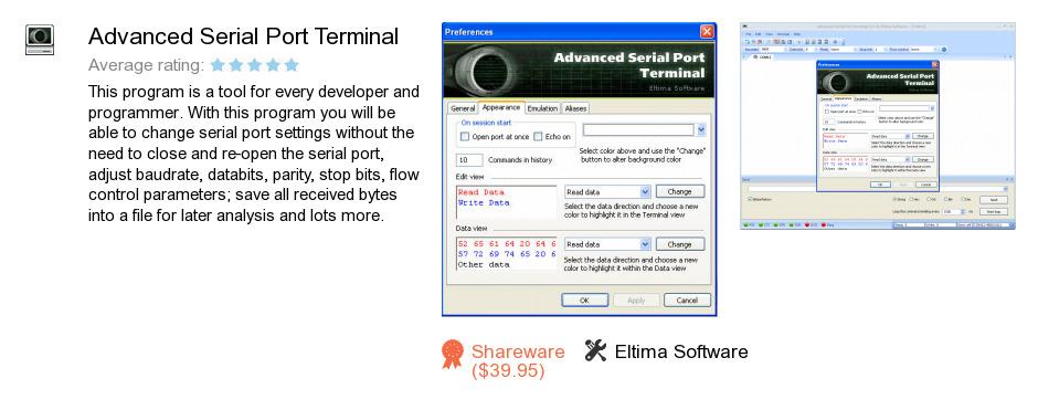 Advanced Serial Port Terminal