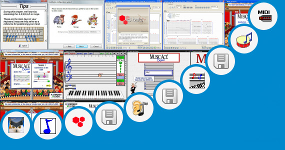 Software collection for Interactive Keyboard Notation Lesson