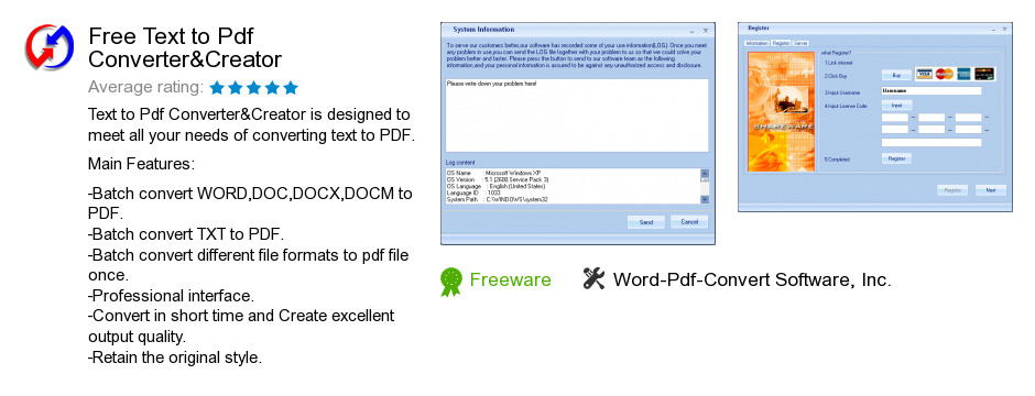 Free Text to Pdf Converter&Creator