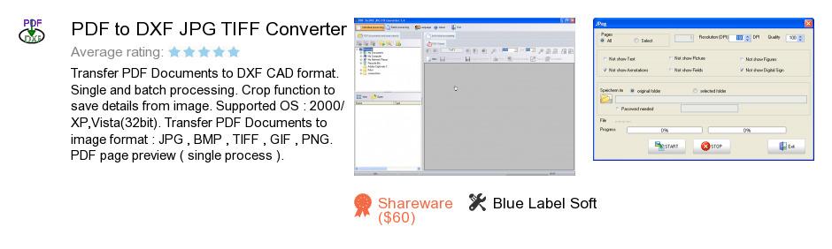 PDF to DXF JPG TIFF Converter
