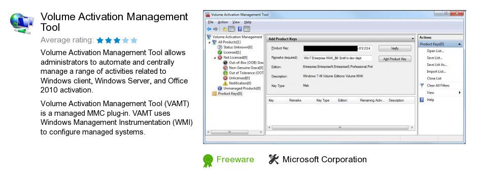 Volume Activation Management Tool