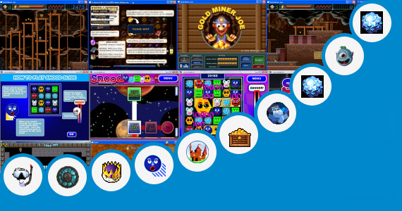 Software collection for Crystal Cave Gold Game