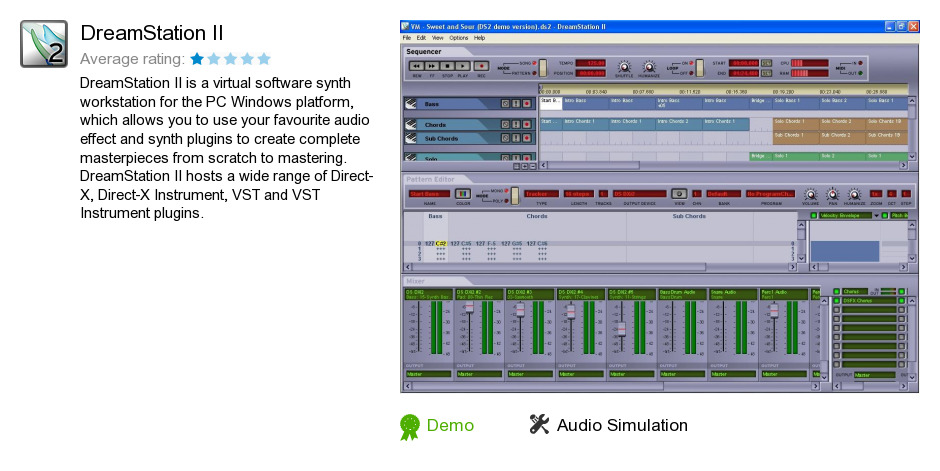 Download au synth plugins software: dreamstation ii 2