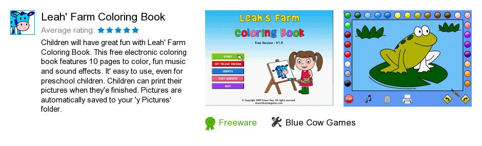 Leah's Farm Coloring Book