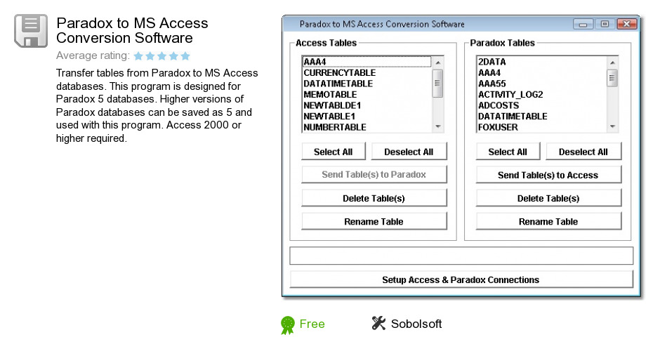 Paradox to MS Access Conversion Software