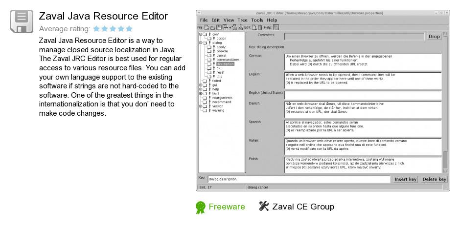 Zaval Java Resource Editor