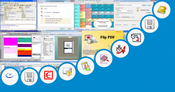 Software collection for Book Production Schedules