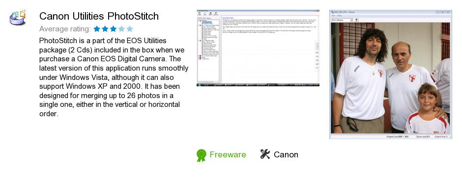 Canon Utilities PhotoStitch
