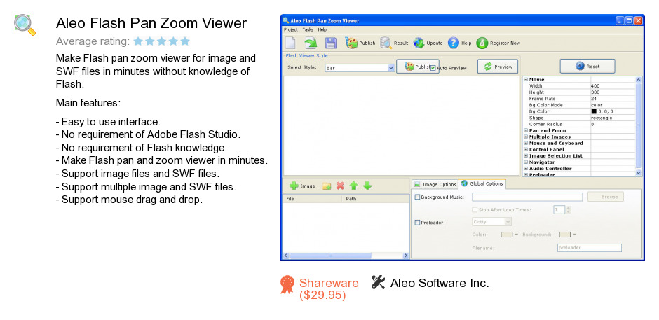 Aleo Flash Pan Zoom Viewer