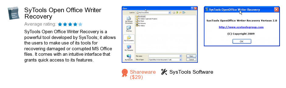 SyTools Open Office Writer Recovery