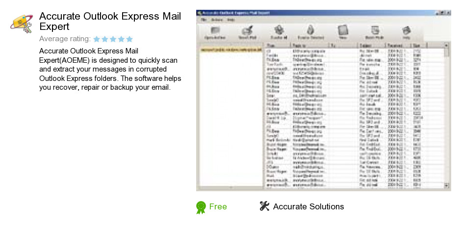 Accurate Outlook Express Mail Expert
