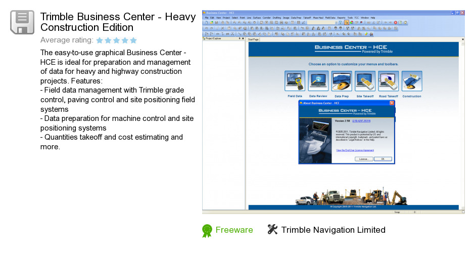 Trimble Business Center - Heavy Construction Edition