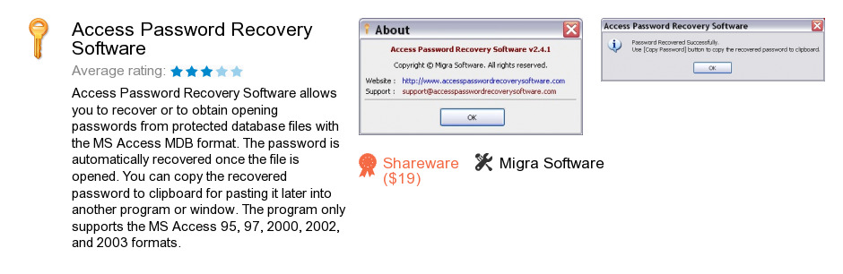Access Password Recovery Software