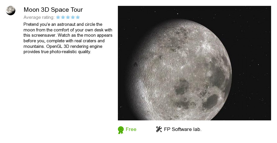 Moon 3D Space Tour