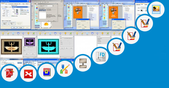 Software collection for System Diagram Clip Art
