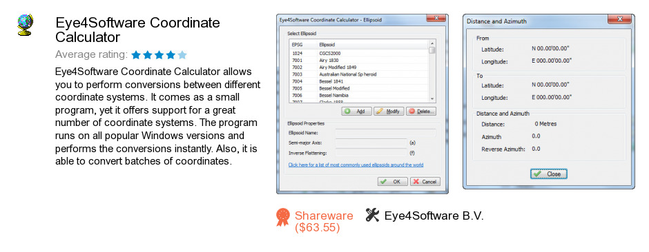 Eye4Software Coordinate Calculator