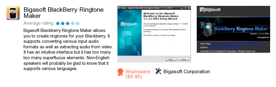 Bigasoft BlackBerry Ringtone Maker