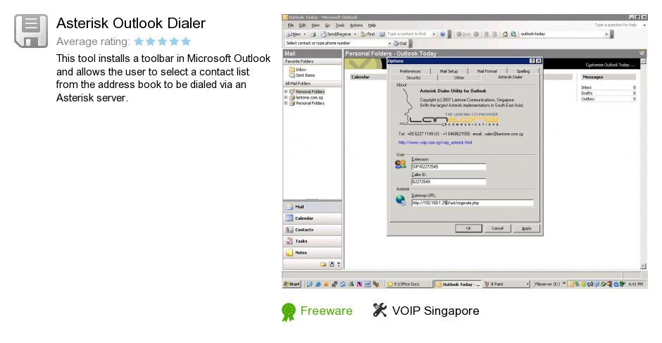 Asterisk Outlook Dialer