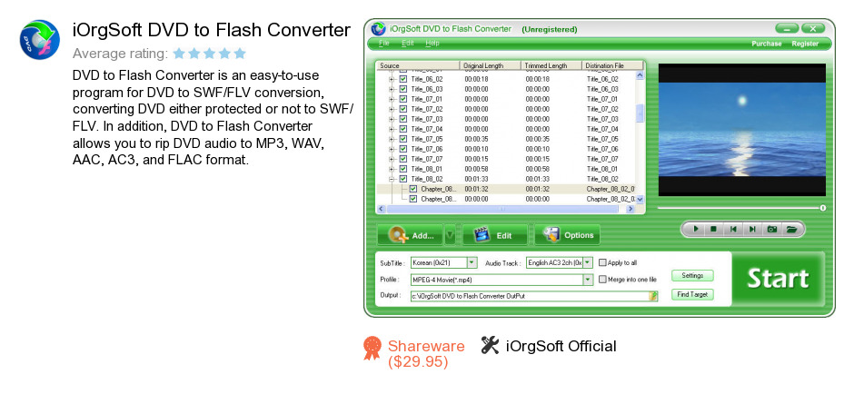 IOrgSoft DVD to Flash Converter