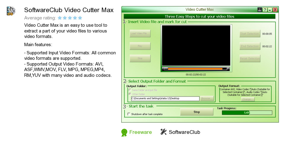 SoftwareClub Video Cutter Max