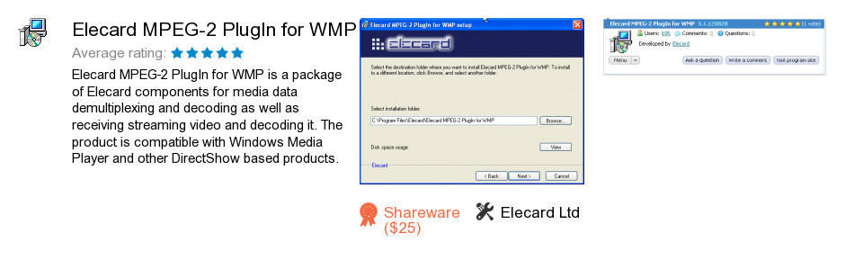 Elecard MPEG-2 PlugIn for WMP
